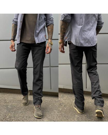 67007  LS темно-серые брюки мужские стрейчевые (8 ед. размеры: 30.31.32.33.34.35.36.38 ) LS
