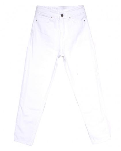 2614 мом белый весенний коттоновый (26-31, 8 ед.) Джинсы