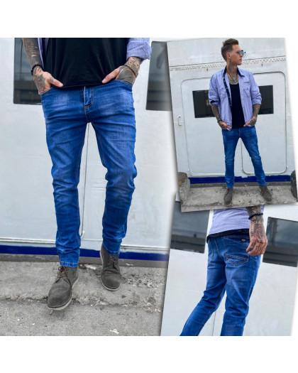 0108 Bullmad джинсы мужские синие весенние стрейчевые (30-36, 8 ед.) Bullmad