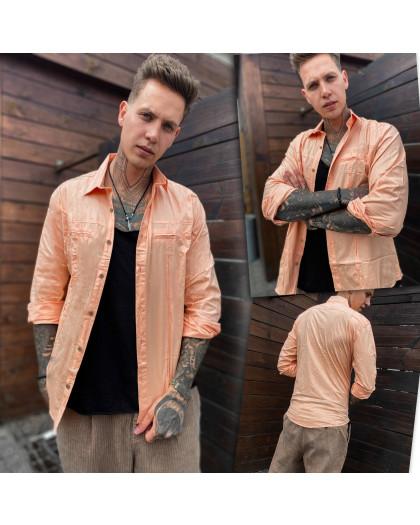 7113 Noseda рубашка мужская пудровая (S-XXL, 5 ед.) Noseda