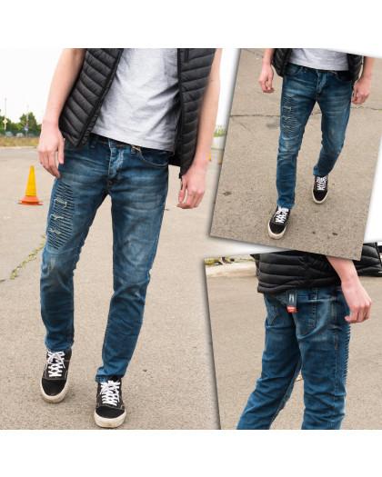 4209 Fashion Red джинсы мужские с рванкой синие весенние стрейчевые (29-36, 8 ед.) Fashion Red