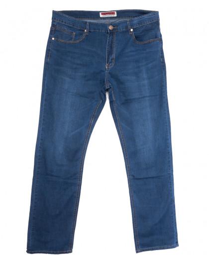 66011 Pr.Minos джинсы мужские полубатальные синие летние стрейчевые (32-42, 8 ед.) Pr.Minos