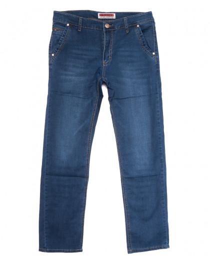 66006 Pr.Minos джинсы мужские полубатальные синие летние стрейчевые (32-38, 8 ед.) Pr.Minos