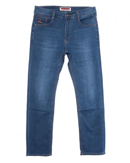 66009 Pr.Minos джинсы мужские полубатальные синие летние стрейчевые (32-38, 8 ед.) Pr.Minos