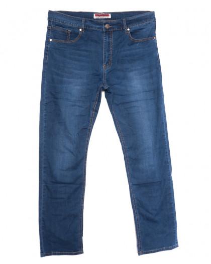 66008 Pr.Minos джинсы мужские полубатальные синие летние стрейчевые (32-38, 8 ед.) Pr.Minos