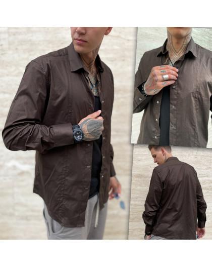 7364-1 Noseda рубашка мужская коричневая (3XL-6XL, 4 ед.) Noseda