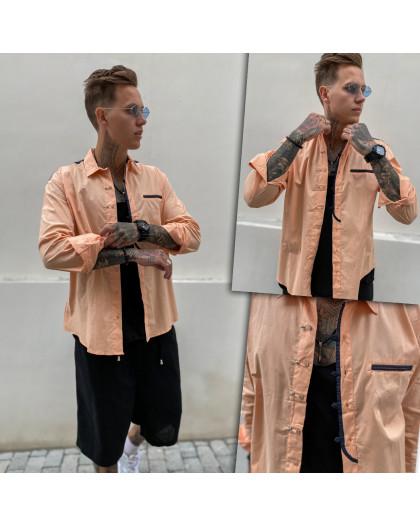 7598-1 Noseda рубашка мужская персиковая (S-XXL, 5 ед.) Noseda