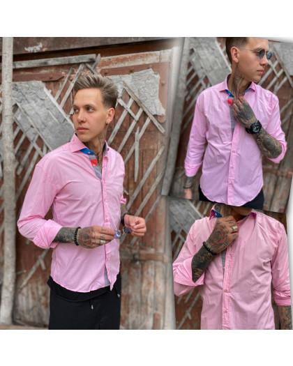 Розовая мужская рубашка Afish 1465-1 Afish