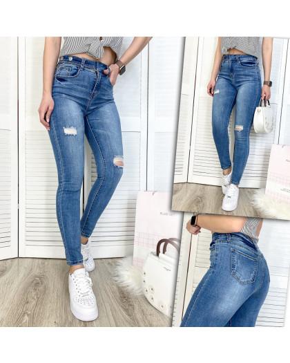 3571 New jeans джинсы женские зауженные синие демисезонные стрейчевые (25-30, 6 ед.) New Jeans