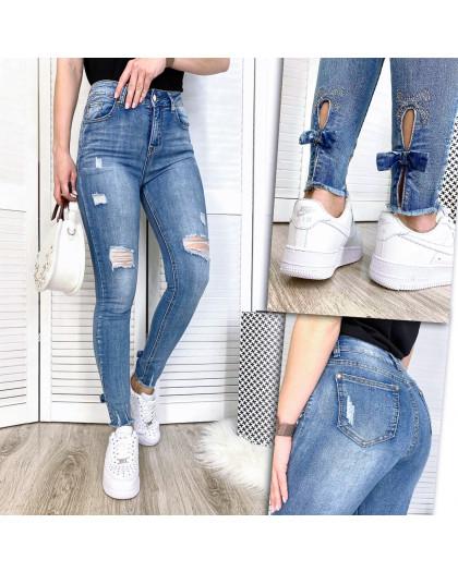 3611-01 New jeans американка с рванкой весенняя стрейчевая (25,25,26,28,29, 5 ед.) New Jeans