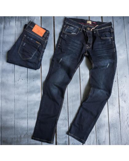3850 Blue Nil джинсы мужские с царапками весенние стрейчевые (29-36, 8 ед.) Blue Nil
