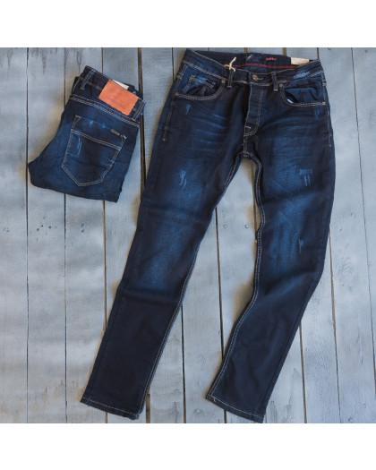3851 Fashion Red джинсы мужские с царапками весенние стрейчевые (29-36, 8 ед.) Fashion Red