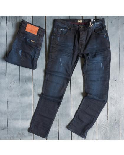 3853 Blue Nil джинсы мужские с царапками весенние стрейчевые (29-36, 7 ед.) Blue Nil