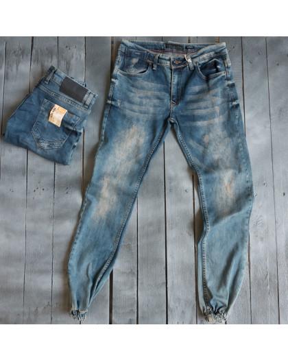 4092 Destry джинсы мужские на манжете весенние стрейчевые (29-36, 8 ед.) Destry