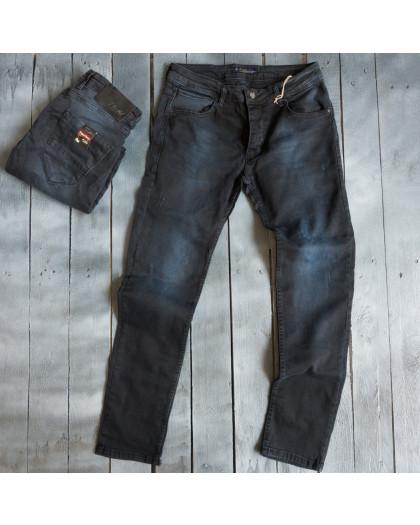 4839 Blue Nil джинсы мужские с царапками темно-синие весенние стрейчевые (29-36, 8 ед.) Blue Nil