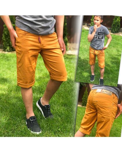 3382 Vigoocc шорты на мальчика горчичные стрейчевые (7 ед. размеры: 24.25.26.27.28.29.30) Vigoocc