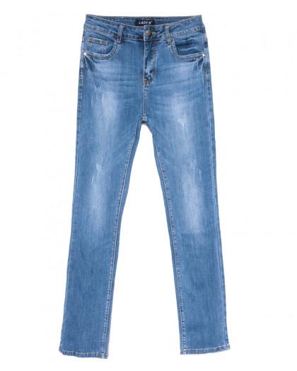 1571 Lady N джинсы женские полубатальные с царапками синие весенние стрейчевые (28-33, 6 ед.) Lady N