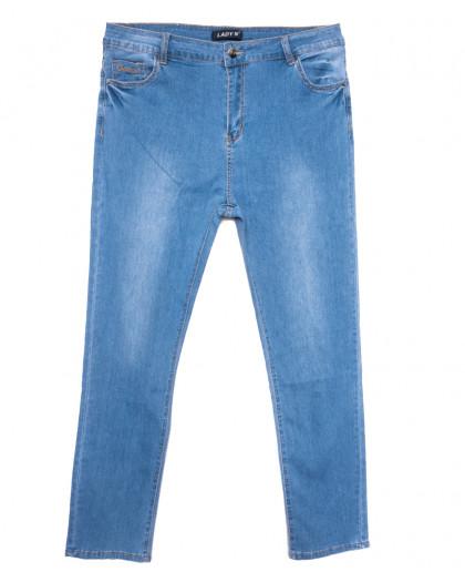 1588 Lady N джинсы женские батальные синие весенние стрейчевые (32-42, 6 ед.) Lady N