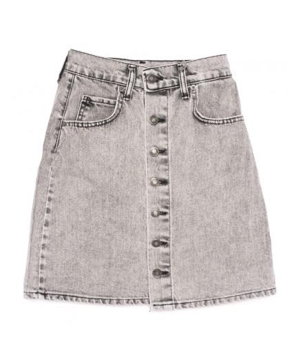 0034-18 Xray юбка джинсовая на пуговицах серая коттоновая (34-40,евро, 6 ед.) XRAY