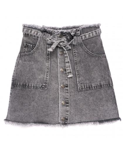 3386 серая Xray юбка джинсовая на пуговицах коттоновая (34-40,евро, 6 ед.) XRAY