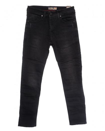 6813 Blue Nil джинсы мужские с царапками серые весенние стрейчевые (32-40, 8 ед.) Blue Nil