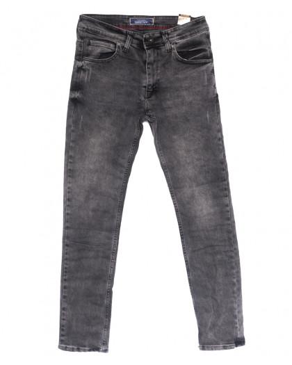 6811 Destry джинсы мужские полубатальные с царапками серые весенние стрейчевые (32-40, 8 ед.) Destry
