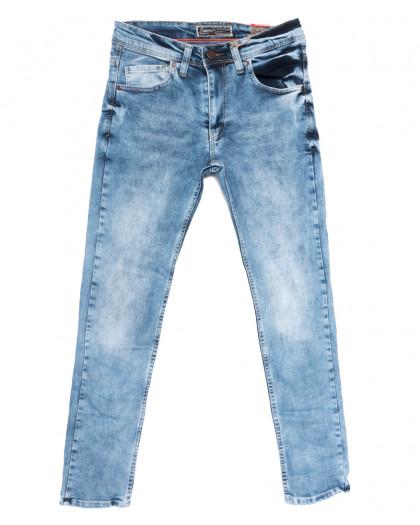 6852 Fashion Red джинсы мужские с царапками синие весенние стрейчевые (29-36, 8 ед.) Fashion Red
