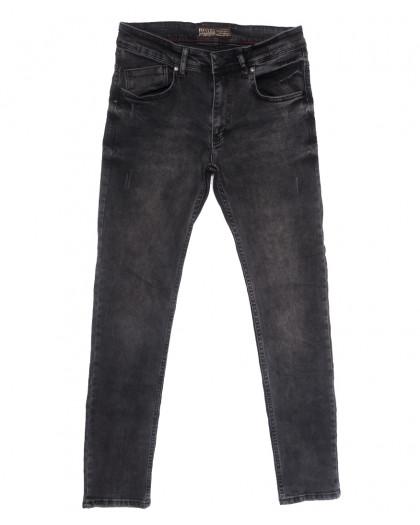 6651 Destry джинсы мужские с царапками серые весенние стрейчевые (29-36, 8 ед.) Destry