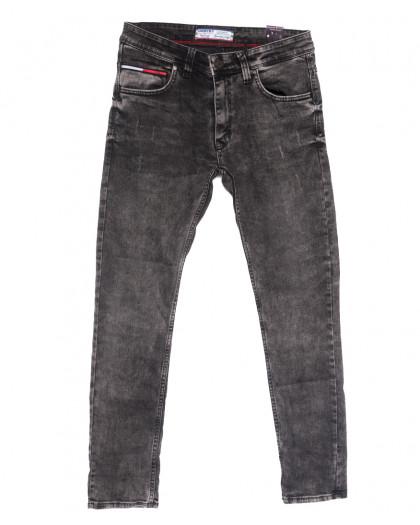 6507 Destry джинсы мужские с царапками серые весенние стрейчевые (29-36, 8 ед.) Destry