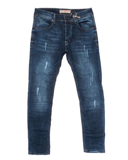 4543 Destry джинсы мужские с царапками синие весенние стрейчевые (29-36, 8 ед.) Destry