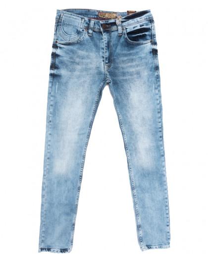 6850 Redcode джинсы мужские с царапками синие весенние стрейчевые (29-36, 8 ед.) Redcode