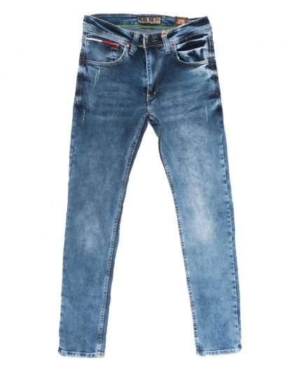6856 Blue Nil джинсы мужские с царапками синие весенние стрейчевые (29-36, 8 ед.) Blue Nil