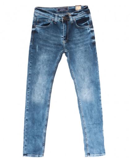 6795 Corcix джинсы мужские с царапками синие весенние стрейчевые (29-36, 8 ед.) Corcix