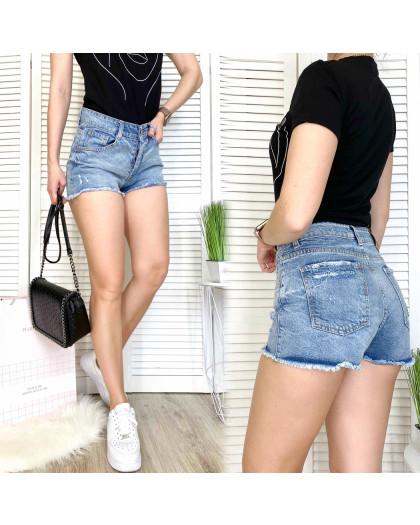 3047 Woox шорты джинсовые женские с царапками синие коттоновые (25-30, 7 ед.) Woox