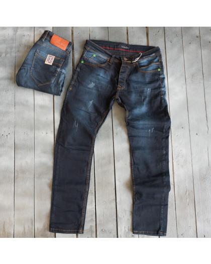 4810 Blue Nil джинсы мужские с царапками темно-синие весенние стрейчевые (29-36, 8 ед.) Blue Nil