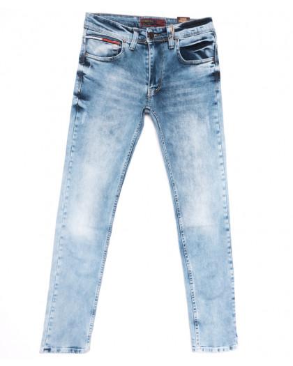 6851 Corcix джинсы мужские c царапками синие весенние стрейчевые (29-36, 8 ед.) Corcix