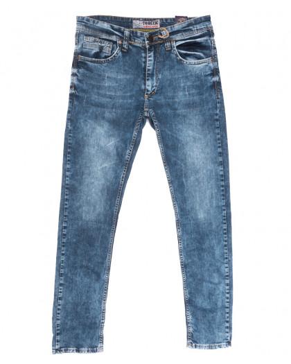 6713 Corcix джинсы мужские c царапками синие весенние стрейчевые (29-36, 8 ед.) Corcix