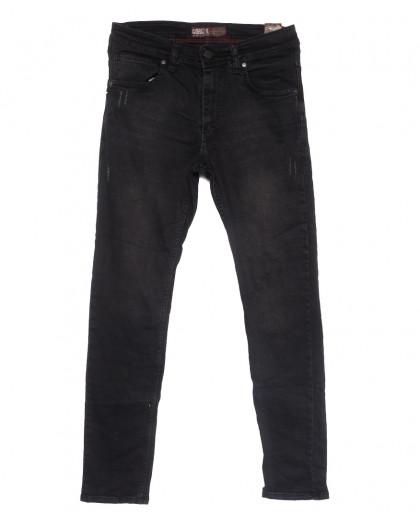 6812 Corcix джинсы мужские полубатальные c царапками темно-серые весенние стрейчевые (32-40, 8 ед.) Corcix
