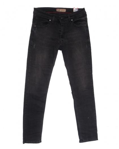 6810 Redcode джинсы мужские полубатальные c царапками серые весенние стрейчевые (32-40, 8 ед.) Redcode