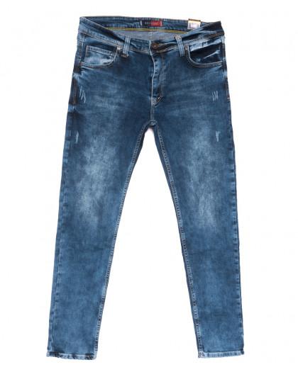 6889 Redcode джинсы мужские полубатальные c царапками синие весенние стрейчевые (32-40, 8 ед.) Redcode