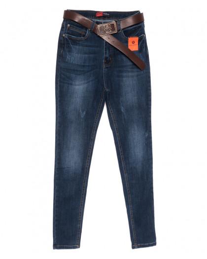 0082-1 A Relucky американка с царапками синяя осенняя стрейчевая (25-30, 6 ед.) Relucky