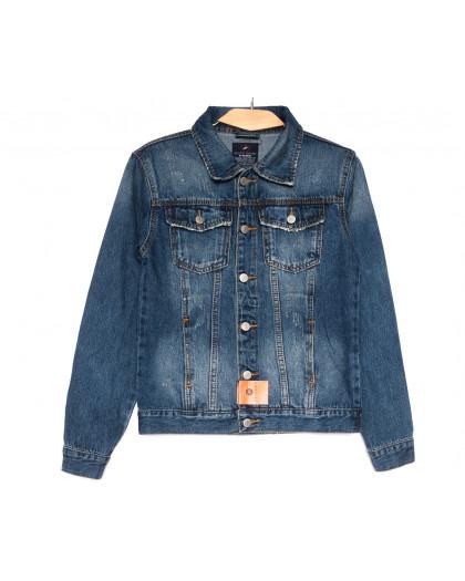 0223-1 A Relucky куртка джинсовая женская с царапками синяя осенняя коттоновая (S-XXL, 6 ед.) Relucky