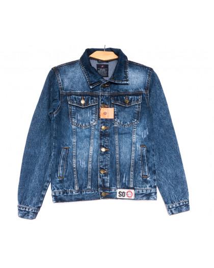 0222-1 A Relucky куртка джинсовая женская с царапками синяя осенняя коттоновая (S-XXL, 6 ед.) Relucky