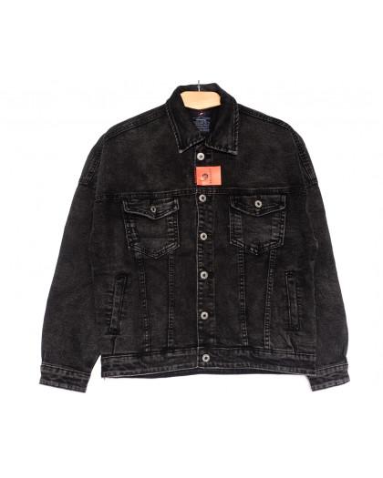 0021-2 A Relucky куртка джинсовая женская серая осенняя стрейчевая (S-L, 6 ед.) Relucky