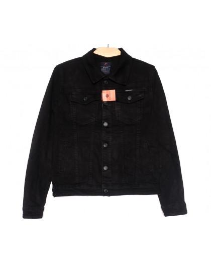 0225-2 A Relucky куртка джинсовая женская черная осенняя стрейчевая (S-ХХL, 6 ед.) Relucky