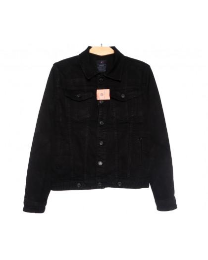 2260-2 A Relucky куртка джинсовая женская черная осенняя стрейчевая (S-ХХL, 6 ед.) Relucky