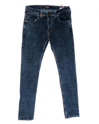 6950 Fashion red джинсы мужские полубатальные с царапками синие стрейчевые (32-40, 8 ед.) Fashion Red
