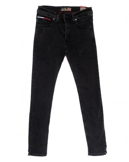 6838 Blue Nil джинсы мужские с царапками серые стрейчевые (29-36, 8 ед.) Blue Nil