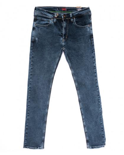 6947 Redcode джинсы мужские полубатальные с царапками синие стрейчевые (32-40, 8 ед.) Redcode