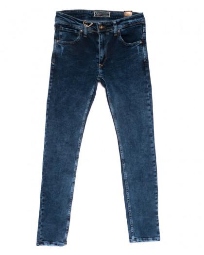 6818 Fashion red джинсы мужские с царапками синие весенние стрейчевые (29-36, 8 ед.) Fashion Red